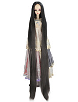 Women Synthetic Wig Capless Very Long Kinky Straight Grey Doll Wig Costume Wig