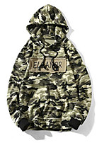 Men's Going out Hoodie Camouflage Hooded Micro-elastic Others Long Sleeve Spring Fall