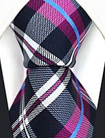 Hombre Todas las Temporadas Diseño Cuadrícula Seda Corbata,Cuadrícula