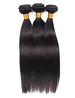 Human Hair Brazilian Natural Color Hair Weaves Straight Hair Extensions One-piece Suit Black