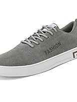 Men's Shoes Rubber Fall Comfort Sneakers Lace-up For Outdoor Red Gray Black