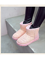 Girls' Shoes PU Fall Winter Snow Boots Boots Booties/Ankle Boots For Casual Blushing Pink Black