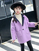 Girls' Solid Jacket & Coat,Wool Cotton Fall Winter Long Sleeve