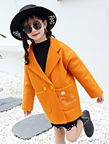 Girls' Cartoon Jacket & Coat,Wool Cotton Fall Winter Long Sleeve