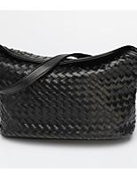 Women Bags All Seasons PU Shoulder Bag Zipper for Casual Black Red Dark Blue