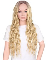 Women Synthetic Wig Capless Long Medium Brown/Strawberry Blonde Ombre Hair Natural Wigs Costume Wig