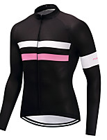cheap -Cycling Jersey Men's Long Sleeves Bike Jersey High Elasticity Winter Mountain Cycling Road Cycling Cycling Bike Bike/Cycling Blushing Pink