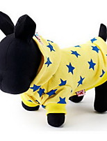 Cat Dog Coat Hoodie Clothes/Jumpsuit Dog Clothes Casual/Daily Keep Warm Stars Blue Fuchsia Yellow