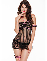 Women's Lace Lingerie Nightwear,Sexy Print-Thin Polyester