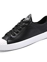 Для мужчин обувь Искусственное волокно Весна Осень Удобная обувь Кеды Назначение Повседневные Белый Черный