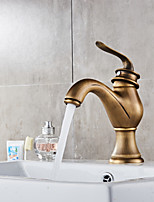 Centerset Ceramic Valve Single Handle One Hole Antique Copper , Bathroom Sink Faucet
