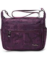 Women Bags Spring Summer Nylon Tote Zipper for Casual Black Purple Fuchsia