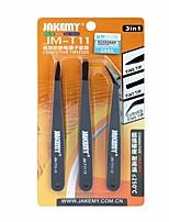 3 em 1 conjunto de pinças anti-estático com pinças curvas pontiagudas e resistentes ao calor, ajustadas para reparo do pcb do laptop do