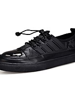 Men's Shoes PU Spring Fall Comfort Sneakers Lace-up For Casual Black