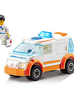 Building Blocks Ambulance Vehicle Toys Vehicles Kids Boys Boys' 92 Pieces