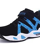 Для мужчин обувь Полиуретан Весна Осень Удобная обувь Кеды Назначение Повседневные Черно-белый Черный/Красный Черный / синий