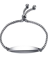 Men's Women's Chain Bracelet Love Adorable Titanium Steel Line Jewelry For Party Gift