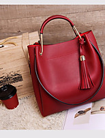 Women Bags All Seasons PU Tote Zipper for Casual Blue Black Red