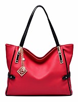 Women Bags Cowhide Shoulder Bag Zipper for Casual All Seasons Blue Black Red