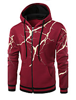 Men's Daily Casual Hoodie Print Hooded Micro-elastic Cotton Acrylic Long Sleeve Winter Fall