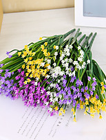 3pcs Simulation Plastic Flowers Silk Flower  32CM 7 Fork Leek Grass