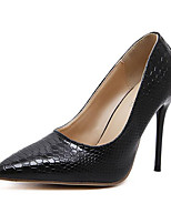 Women's Shoes Leatherette Spring Fall Winter Basic Pump Comfort Novelty Heels Stiletto Heel For Wedding Party & Evening Black