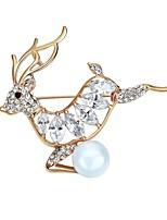 broches des femmes des hommes bling bling bijoux en alliage de zircon de chrismas pour la fête noël