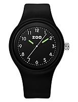 Жен. Модные часы Кварцевый силиконовый Группа Черный Белый Синий Оранжевый Зеленый Розовый Желтый