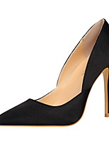 cheap -Women's Shoes Lycra Spring Summer Comfort Basic Pump Heels Stiletto Heel Pointed Toe Closed Toe for Party & Evening Office & Career Black