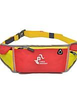 2 L Waist Bag/Waistpack Camping / Hiking Hiking Running Fast Dry Cloth Nylon