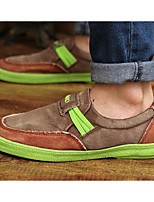 Men's Shoes Canvas Spring Fall Light Soles Sneakers For Casual Black Brown