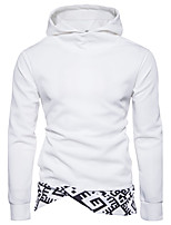 Men's Daily Going out Casual Sexy Hoodie Print Hooded Micro-elastic Cotton Long Sleeve Spring Fall