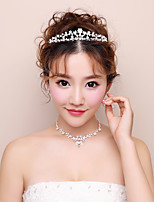Women's Rhinestone Wedding Evening Party Alloy Hair Jewelry Necklace Earrings