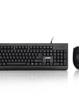 AJAZZ Wiredx1180  Multimedia Ergonomic Usb GamingBlue Switches Mechanics Keyboard 1000DPI 8 Buttons Optical Gaming Mouse