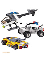 Building Blocks Military Vehicle Helicopter Toys Tank Fighter Police Military Kids Boys Boys' Pieces