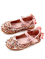 Girls' Shoes PU Winter Comfort Flats for Casual Black Silver Pink