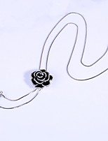 Women's Pendant Necklaces Lariat Y Necklaces Rhinestone Flower Jewelry Alloy Fashion Elegant Jewelry For Party Daily