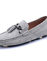 Men's Shoes PU Spring Fall Moccasin Loafers & Slip-Ons Tassel For Casual Khaki Blue Gray Black
