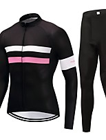Cycling Jersey with Tights Unisex Long Sleeves Bike Clothing Suits Fast Dry Solid Winter Cycling/Bike Black