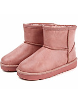 Girls' Shoes Synthetic Microfiber PU Winter Snow Boots Boots Booties/Ankle Boots For Casual White Black Brown Blushing Pink