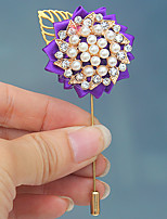 Wedding Flowers Boutonnieres Wedding Bead Polyester 1.57