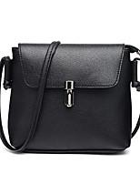 Women Bags All Seasons PU Shoulder Bag Zipper for Casual Black Silver Red