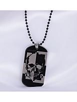 Муж. Жен. Ожерелья с подвесками В форме квадрата В форме черепа Нержавеющая сталь Бижутерия Назначение Повседневные