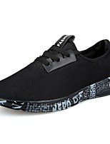 Men's Shoes Tulle Spring Fall Comfort Sneakers Lace-up For Outdoor Black/Gold Black