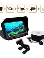 Caméra de pêche sous-marine dvr vidéo 6 led vision nocturne fish finder 4.3 hd tft lcd moniteur écran pêche finder