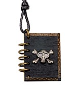 Men's Women's Pendant Necklaces Locket Skull Wood Alloy Fashion DIY Jewelry For Party Going out