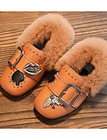 Fille Chaussures PU de microfibre synthétique Printemps Automne Confort Mocassins et Chaussons+D6148 Pour Décontracté Noir Jaune