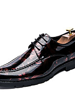Men's Shoes Patent Leather Fall Winter Formal Shoes Oxfords For Casual Party & Evening Green Red Gray Black