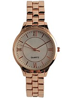 Women's Fashion Watch Japanese Concise Quartz Alloy Band Rose Gold