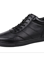 Men's Shoes Cowhide Fall Winter Light Soles Sneakers For Casual Black